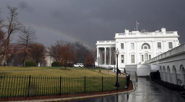 An intruder was arrested in the grounds of the White House