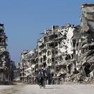 Devastated buildings in the old city of Homs, Syria (AP)