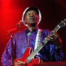 Chuck Berry performing in London - the pioneering rock 'n' roller has died at the age of 90
