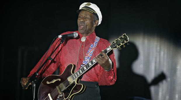 Chuck Berry, pictured in 2009, who has died at his Missouri home aged 90 (AP Photo/Lionel Cironneau)