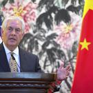 US Secretary of State Rex Tillerson speaks during a press conference in Beijing during his first official visit to China (AP Photo/Mark Schiefelbein, Pool)