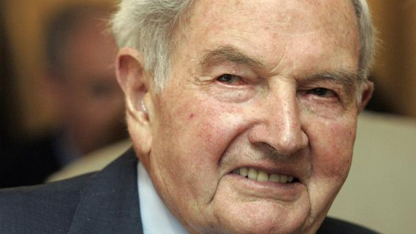 David Rockefeller was 101 years old (AP)