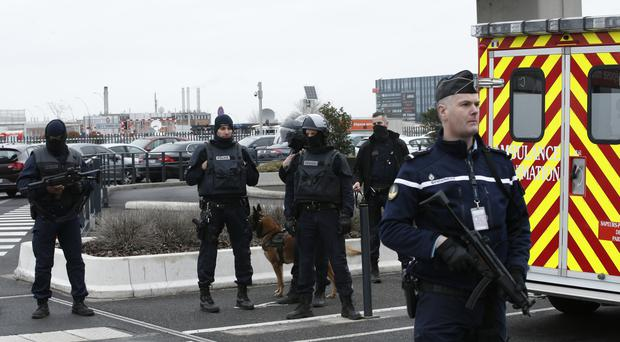 French police secure Orly airport, south of Paris (AP)