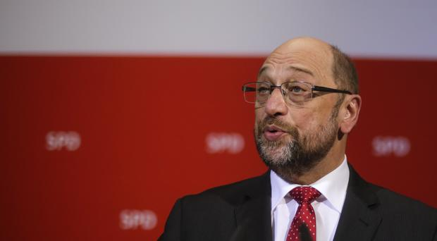 Social Democratic Party, SPD, chairman and top candidate in the upcoming general elections Martin Schulz. (AP/Markus Schreiber)