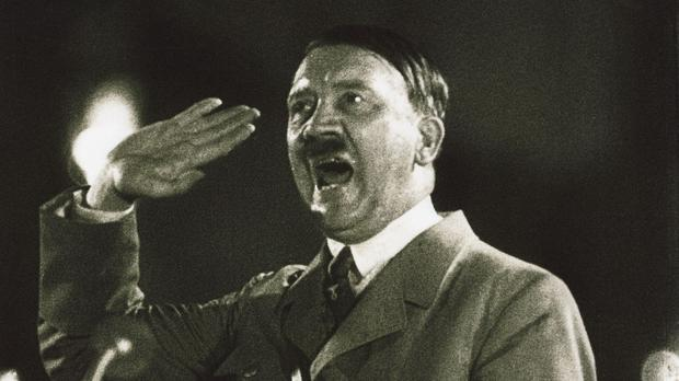 Hitler addresses a crowd at a rally (Britsh Pathe/PA)