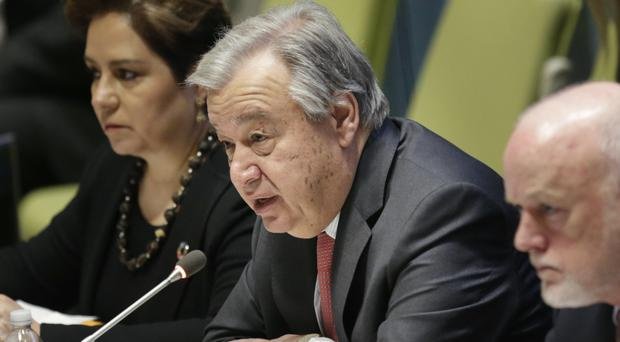 Antonio Guterres is concerned about the fate of the civilian population in eastern Ukraine (AP)