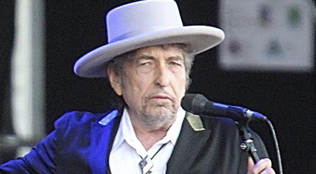 Bob Dylan received his award during a small afternoon gathering (David Vincent/AP)