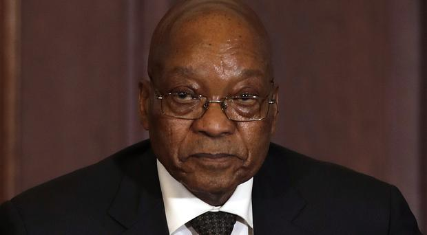 South African President Jacob Zuma sacked his finance minister last week (Themba Hadebe/AP)