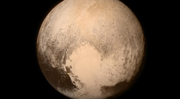 A Nasa image of Pluto obtained by the New Horizons spacecraft