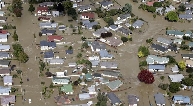 The flooded streets of Edgecumbe (The Bay of Plenty Times/AP)