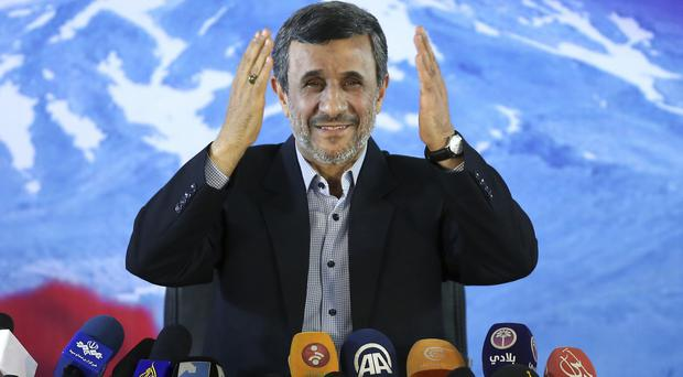 Mahmoud Ahmadinejad gives a press conference in Tehran (AP)