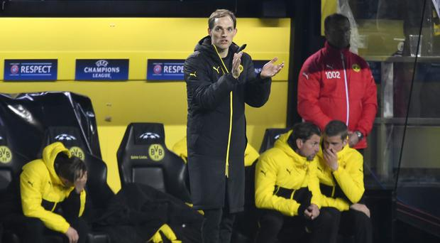 Borussia Dortmund's head coach Thomas Tuchel during the Champions League match that he was angry was played so soon after the bus bomb attack (AP Photo/Martin Meissner)
