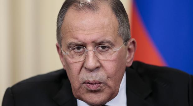 Russian Foreign Minister Sergey Lavrov called on the UN to inspect the Syria site. (AP/Ivan Sekretarev)