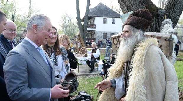 The Prince of Wales on one of his many trips to Romania