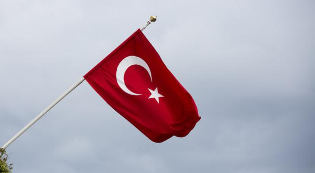 A police helicopters with 12 people on board has crashed in south eastern Turkey, according to local media reports.