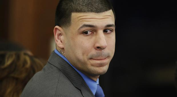 Former New England Patriots tight end Aaron Hernandez has been found dead in his prison cell. (AP/Stephan Savoia)