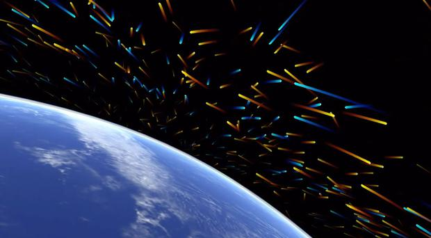 Space debris orbiting the Earth (University of Southampton/PA Wire)