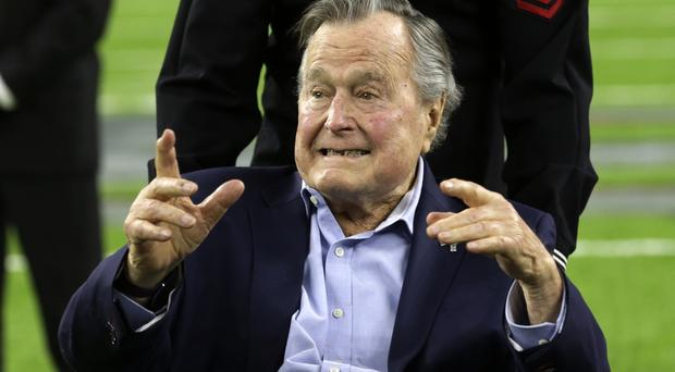 Former president George HW Bush has been in hospital since April 14