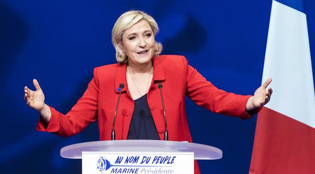 Marine Le Pen placed second in the first-round of the election (AP)