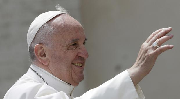Pope Francis delivered a Ted talk. (AP/Andrew Medichini)