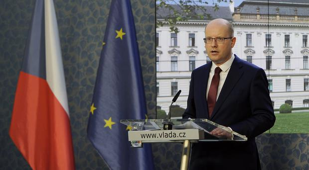 Prime Minister Bohuslav Sobotka said he had changed his mind about resigning with his government (Ondrej Deml/CTK via AP)