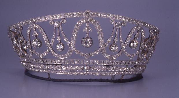 The tiara stolen from a state museum in Germany (Badisches Landesmuseum Karlsruhe via AP)