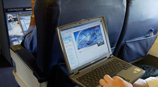 Is the United States  considering banning laptops on all flights from Europe?