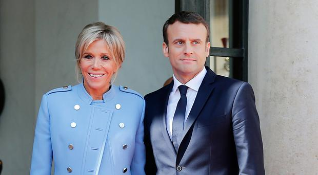 President Emmanuel Macron and his wife Brigitte Trogneux
