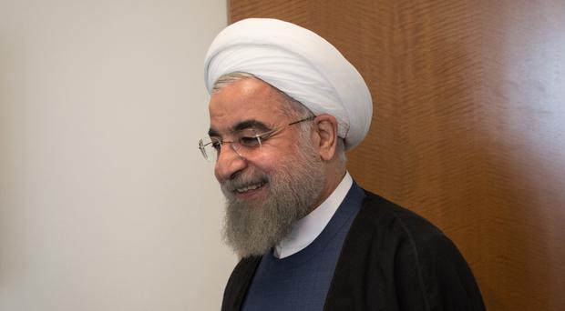 Iranian President Hassan Rouhani is facing hardline opponents in the elction.