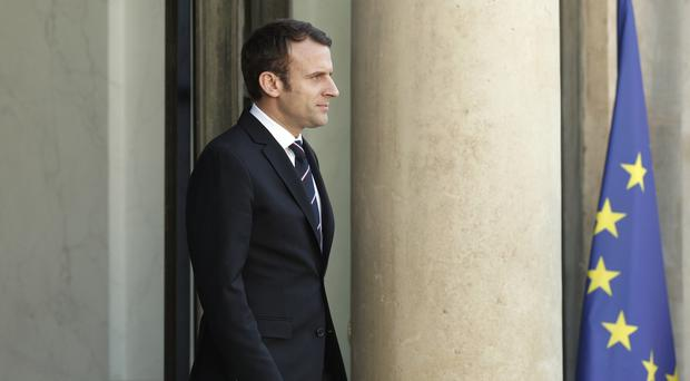 French President Emmanuel Macron is set to meet EU leader Donald Tusk. (Yoan Valat/AP)