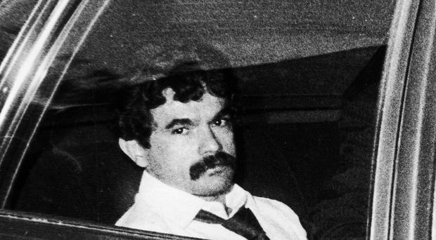 Puerto Rican nationalist Oscar Lopez Rivera is driven to jail after his trial in the 1980s. (Chicago Tribune/AP)