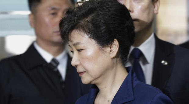 Ousted South Korean President Park Geun-hye in court for bribery trial