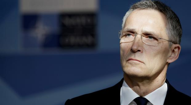 Nato Secretary-General Jens Stoltenberg said the alliance would not take on a combat role (AP)