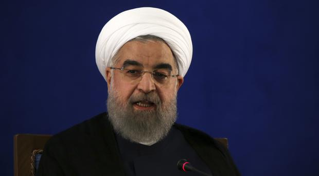 Iran's president criticizes United States after Trump's sharp words