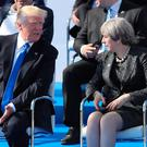US President, Donald Trump and British Prime Minister, Theresa May