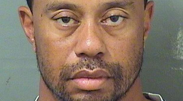 Tiger Woods was booked into a county jail around 7am local time on Monday (Palm Beach County Sheriff's office via AP)