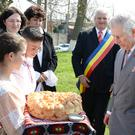 The Prince of Wales during a visit to Romania