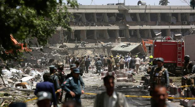 Bomb blast kills dozens in Kabul diplomatic zone