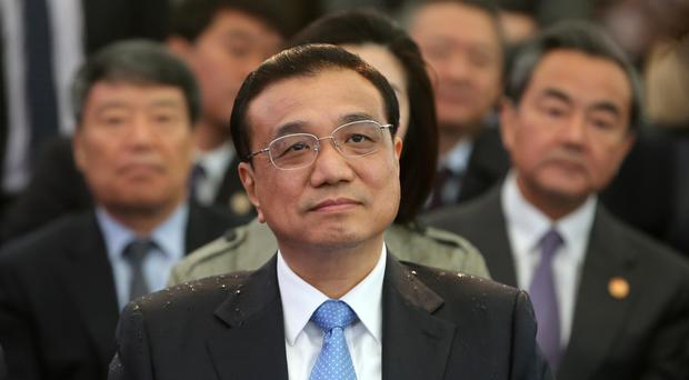 Li Keqiang pictured during a visit to the Republic of Ireland