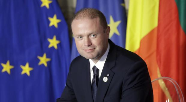 Joseph Muscat was re-elected as PM on Saturday (Alessandra Tarantino/AP)