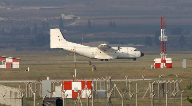 A German Air Force cargo plane at Incirlik air base in southern Turkey (Emrah Gurel/AP file)