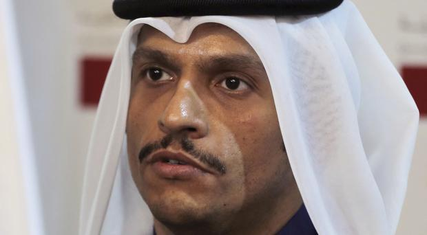 Qatari foreign minister Sheikh Mohammed bin Abdulrahman Al Thani spoke out over the sanctions. (AP/Bilal Hussein)