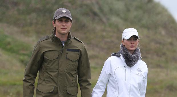 Jared Kushner with wife Ivanka Trump.