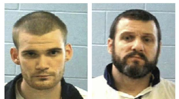 Police are searching for inmates Ricky Dubose and Donnie Russell Rowe (AP)