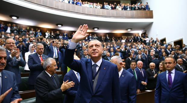 Turkish president Recep Tayyip Erdogan has criticised the effort by several Arab countries to isolate Qatar over allegations of sponsoring militant groups (AP)