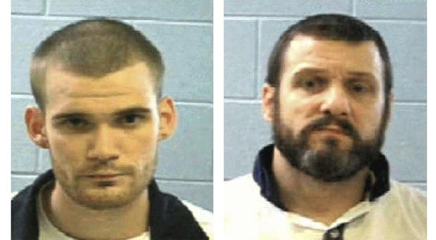 Photos provided by the Georgia Department of Corrections shows inmate Ricky Dubose, left, and Donnie Russell Rowe (AP)