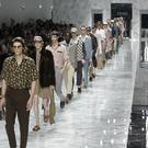 Models show off the Fendi men's Spring-Summer 2018 collection in Milan, Italy (AP Photo/Luca Bruno)
