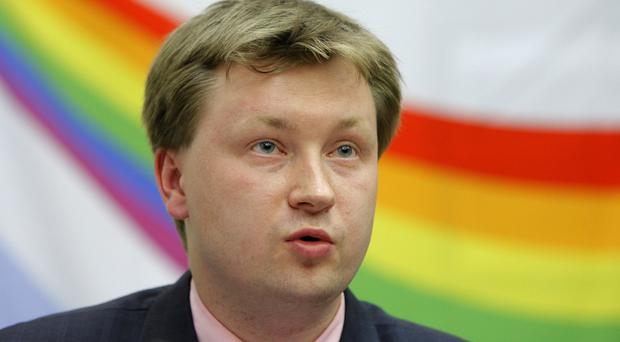 Nikolai Alexeyev said the ruling will give his advocacy group legal grounds to get the anti-gay law scrapped (Alexander Zemlianichenko/AP)