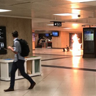 The explosion at Brussels' Central Station