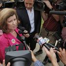 Karen Handel voted at St Mary's Orthodox Church in Roswell, Georgia (Atlanta Journal-Constitution/AP)
